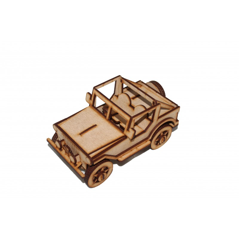Wooden Land Rover 3d Puzzle