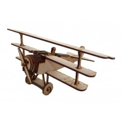 Red Baron (Fokker DR1) 3D Puzzle