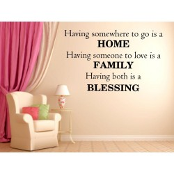 Home Wall quote